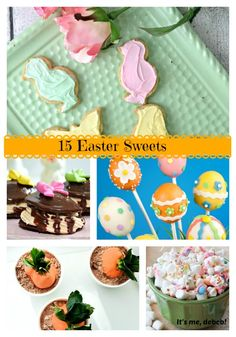 15 Easter Sweets - It's me, debcb!