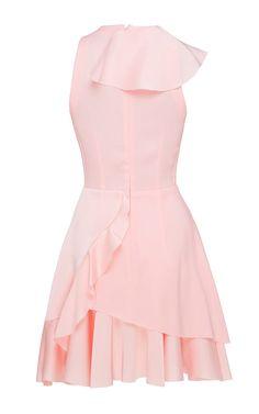 Poppy Satin Crepe Ruffle Mini Dress by Alex Perry for Preorder on Moda Operandi
