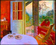 Pierre Bonnard [French Nabi Painter, 1867-1947,  Dining Room in the Country, 1913