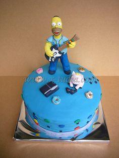 Cake Homero Simpson y puerco araña