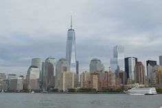 NYC Skyline. The One World Trade Center is over there.