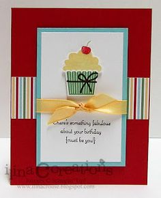 My Creations, cute cupcake card!