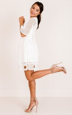 Wash Over Me dress in white lace