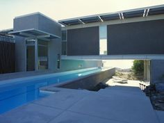 Rancho Mirage - Swimming Pool runs the length of the house.
