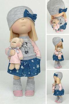 Cloth doll Tilda doll Art doll Stoffpuppe Poupée Handmade doll Fabric doll Textile doll Bambole Rag doll Puppen Muñecas Blue doll Yulia K Tilda Toy, Free To Use Images, New Dolls, Fashion Sewing, Diy Dress, Fabric Dolls, Doll Face, Doll Clothes, Textiles