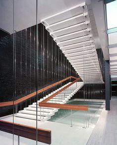 Eero Saarinen. General Motors Technical Center located in Warren, Michigan. Project Years: 1948-56. Staircase Detail.