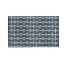 Aldo Blue Indoor-Outdoor Rug | Crate and Barrel on sale now for $139 less 15% is $118.15