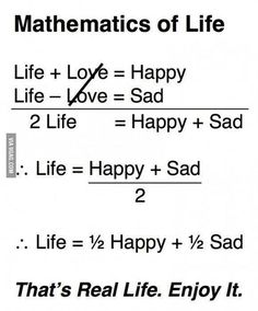 Mathematics of Life Real life simultaneous equations! Math Quotes, Math Memes, Math Humor, True Quotes, Funny Quotes, Funny Math, Daily Quotes, The Words, Funny Test Answers