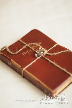Photography idea with Grandpa's Bible; possibly how the ringbearer delivers the rings