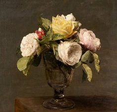 Henri Fantin-Latour | Roses in a Glass Vase, 1873, oil on canvas, Birmingham Museums and Art Gallery, England