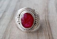 Red Ruby Gemstone Ring