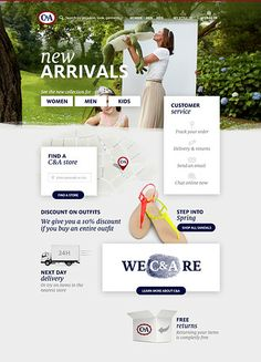 re-design of c&a.com on behance