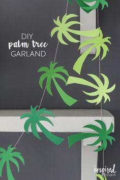 DIY Palm Tree Garland // Party in Paradise via @Inspiredbycharm #carnivalpartner