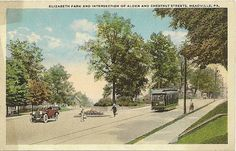 Meadville, Pa -- Alden Street at Chestnut Street near Elizabeth Pk. How fun would it have been to ride that trolley.