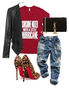 Sunshine by fabgirlfitz on Polyvore featuring polyvore, fashion, style, Levi's, Christian Louboutin, Yves Saint Laurent and clothing