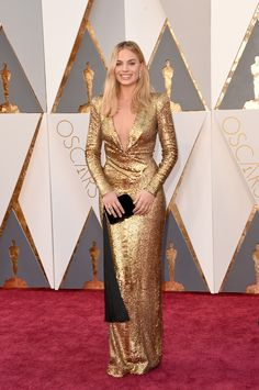High fashion was all about a low neckline at this year's Oscars