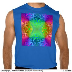 Groovy 3-D Retro Pattern Sleeveless T-shirt