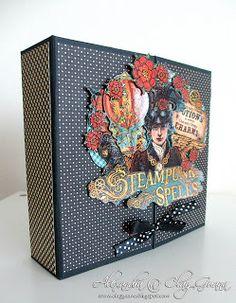 """*ClayGuana: Graphic 45® """"Steampunk Spells"""" Gate Fold Mini Album"""