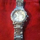 Anne Klein Diamond Watch Silvertone Stainless