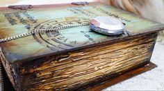 Decoupage Tutorial Vintage Wooden Book - Ντεκουπάζ Ξύλινο Βιβλίο - Diy S...