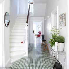 Amazing tiled floor in entrance to beautiful Brighton house