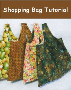 Reversible Shopping Bag sewing tutorial- it uses one yard of fabric /Geta's Quilting Studio