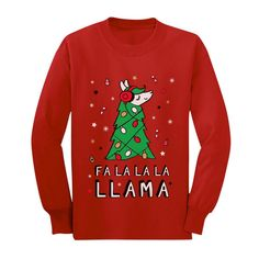 8 Christmas gift ideas to treat yourself with friends - HomeCNB Homemade Ugly Christmas Sweater, Funny Christmas Sweaters, Funny Xmas, Ugly Sweater For Kids, Llama Christmas, Christmas 2019, Christmas Ideas, Kids Shirts, Youth