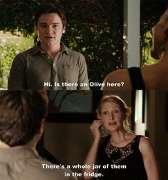 Easy A! bahahaha best line in the movie. Makes me want to name a kid olive just to use this line.