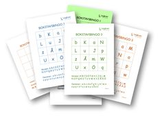 Träna bokstavskunskap genom detta roliga bingospel. Låt eleverna skapa egna bingobrickor eller använd de redan färdiga brickorna. Finns i olika svårighetsgrader!