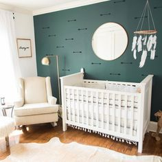 Paper Riot Co. || Oodles of ways to use Arrow Wall Decals in your home decor! Temporary wallpaper is so easy! In the kitchen, bedroom, even the bathroom and baby's nursery.