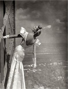 Top of The Eiffel Tower - September 1939 - Harper's Bazaar - Photo by Irwin Blumenfeld