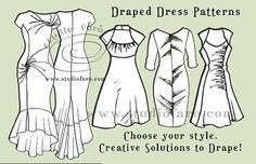 Learn #PatternPuzzle techniques in our #Draped Skirt n #DrapedDress Patterns W'shops http://www.studiofaro.com/book-industry-workshops-advanced #sydney