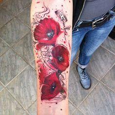 1610ac6b2 40 Best kropp images | Poppies tattoo, Tattoo watercolor, Flower tattoos