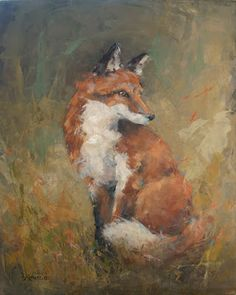 CHOP907 animals three foxes hand painted oil painting art on canvas