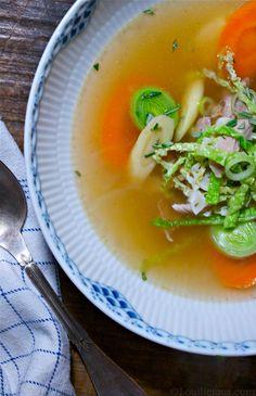 Chicken soup - Hello fall!  //Louilicious.com