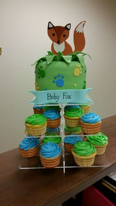 Baby Shower Cake for A person who's last name is Fox