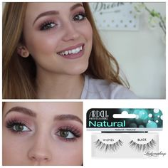 ardell natural wispies cut up and put on in 4 parts #naturallashes