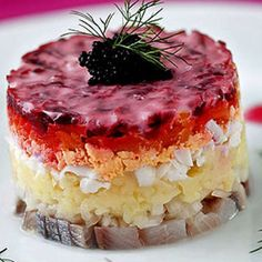 "The most popular Russian national salad is ""dressed herring"". It one is a layered salad made of pickle herring, boiled potatoes, carrots, beetroots and eggs. Sometimes the herring salad also contains apples.  http://onetorussia.com/en/guide/moskva/kuxnya.html  #onetorussia #traveltorussia #visitrussia #tourstorussia #russiaonline #devourpower #food #restaurant #look #photo #instago #instalike #landscape #loves_russia #russiandiary #travellife #reisen #awesome_russia #landscape_russia…"