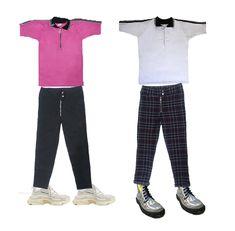 673702efd Camisetas tipo polo Foreigner Clothing con pantalones punk y tenis triple S  de Balenciaga.