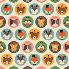 'Animal Faces Wrapping Paper': Petit Collage for The Gift Wrap Company