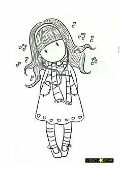Coloring Page 2018 for Munecas Gorjuss Para Colorear, you can see Munecas Gorjuss Para Colorear and more pictures for Coloring Page 2018 at Children Coloring. Colouring Pages, Adult Coloring Pages, Coloring Sheets, Coloring Books, Silkscreen, Disney Drawings, Copics, Cute Illustration, Digital Stamps