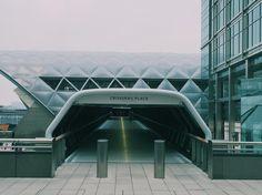 CrossRail Place Canary Wharf #crossrail #canarywarf #maybeLDNer #london #ig_london by badgersnapper