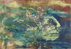 "Saatchi Art Artist Grażyna Smalej; Painting, ""Magnolia"" #art"