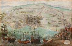 Escuela española del siglo XVII El Sitio de Barcelona de 1651-1652 Óleo sobre lienzo
