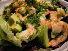 Shrimp Salad with Avocado and Cilantro is a Keto inspired dish full of flavor and healthy yummy goodness!