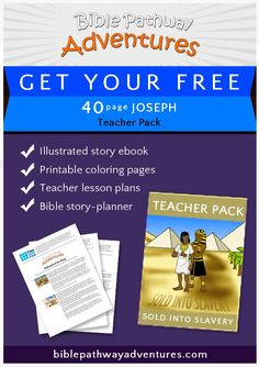 Joseph and his brothers Bible Activities For Kids, Bible Stories For Kids, Bible Resources, Bible For Kids, Puzzles For Kids, Teacher Lesson Plans, Free Bible, Bible Lessons, Sunday School