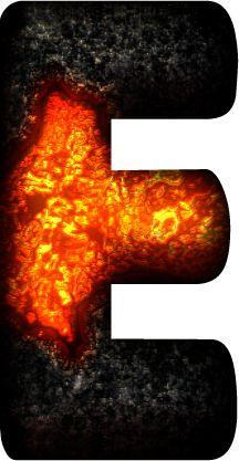 Alfabeto en Lava de Volcán.