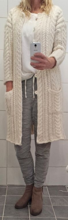 cable knit jacket, design Annelise Bjerkely
