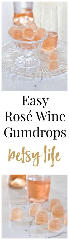 Easy Rosé Wine Gumdrops in case you want to do some stealth drinking at the pool this summer. This diy recipe is super easy.