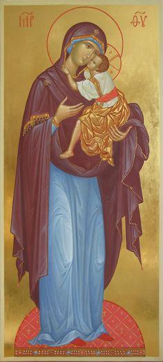 Tenderness Icon of the Theotokos / foto van Zoran Zivkovic. Orthodox Catholic, Catholic Art, Blessed Mother Mary, Blessed Virgin Mary, Religious Icons, Religious Art, Best Mother, Orthodox Icons, Our Lady